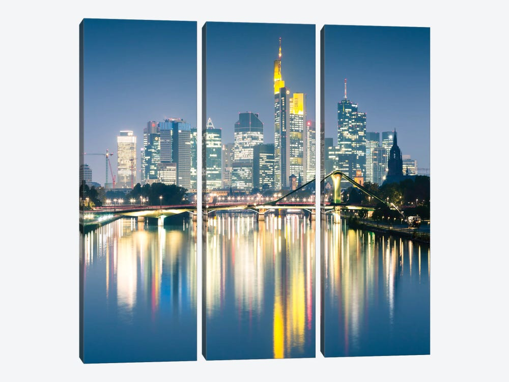 Downtown Skyline, Frankfurt, Hesse, Germany by Matteo Colombo 3-piece Canvas Wall Art