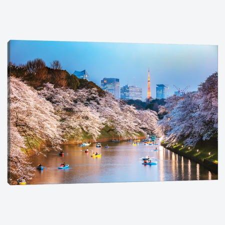 Chidorigafuchi Moat, Tokyo, Japan 3-Piece Canvas #TEO361} by Matteo Colombo Art Print