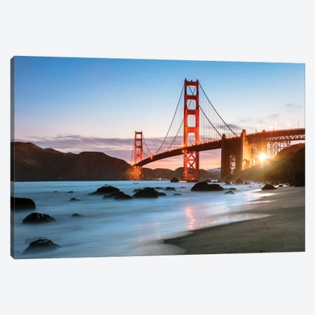 Dawn At The Golden Gate Canvas Print #TEO366} by Matteo Colombo Canvas Art