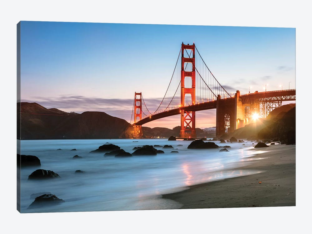 Dawn At The Golden Gate by Matteo Colombo 1-piece Canvas Art