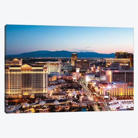 Dawn Over The Strip, Las Vegas Canvas Print #TEO367} by Matteo Colombo Canvas Art