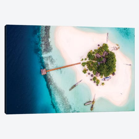 Dream Island Aerial I Canvas Print #TEO369} by Matteo Colombo Canvas Print