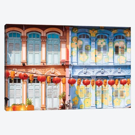 House In Chinatown, Singapore Canvas Print #TEO375} by Matteo Colombo Canvas Print