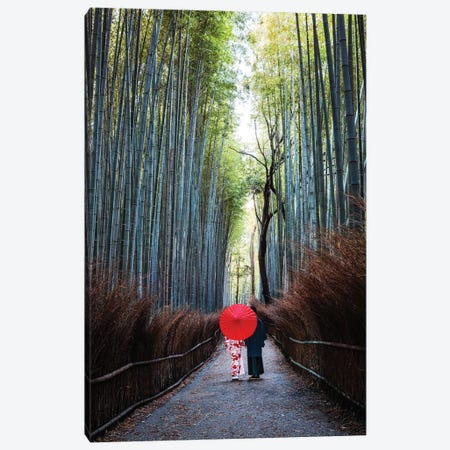 Japanese Couple At Arashiyama Forest, Kyoto I Canvas Print #TEO376} by Matteo Colombo Canvas Print