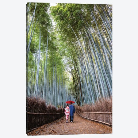Japanese Couple At Arashiyama Forest, Kyoto II Canvas Print #TEO377} by Matteo Colombo Canvas Art Print