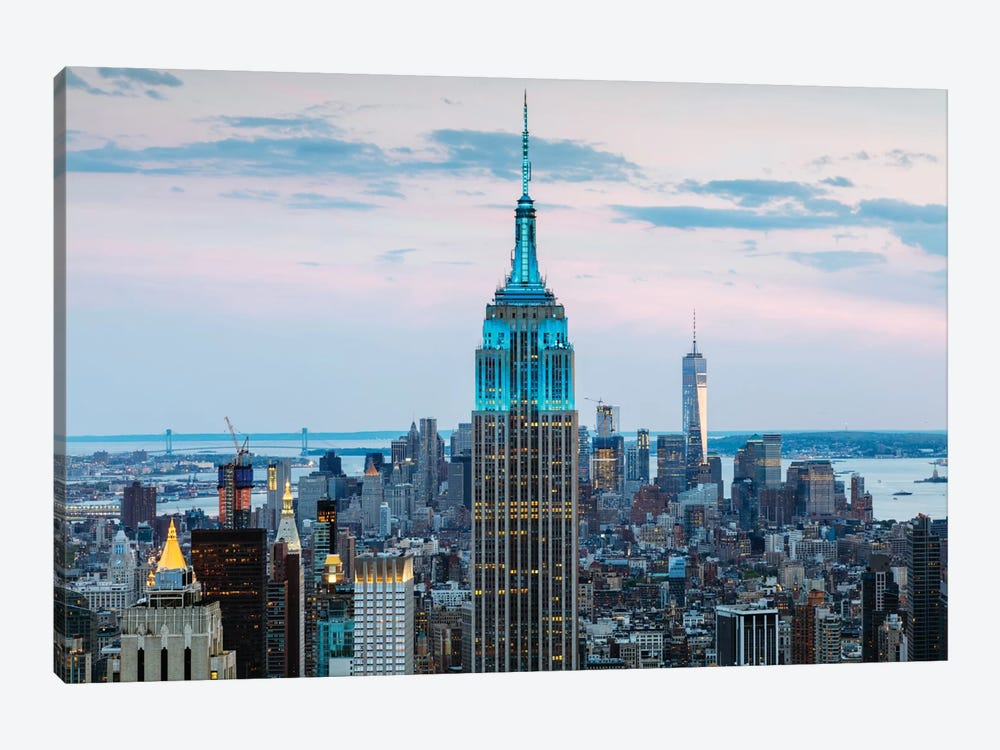 Empire State Building At Dusk, Midtown, New York City, New York, USA by Matteo Colombo 1-piece Canvas Art