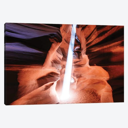Light Beam At Upper Antelope Canyon Canvas Print #TEO384} by Matteo Colombo Canvas Wall Art