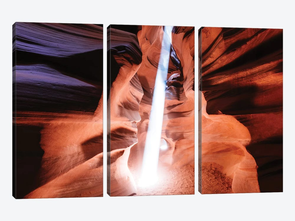 Light Beam At Upper Antelope Canyon by Matteo Colombo 3-piece Canvas Art