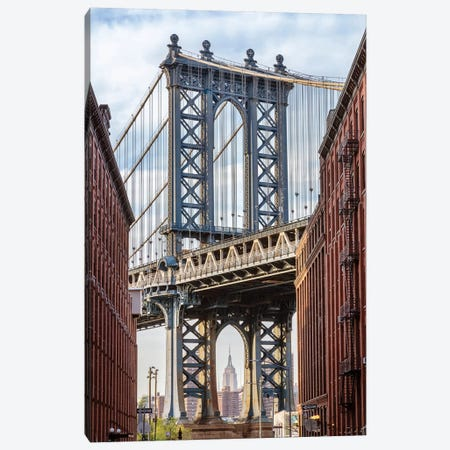 Manhattan Bridge Canvas Print #TEO389} by Matteo Colombo Canvas Art Print