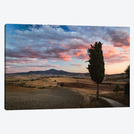 Epic Sunset, Tuscany, Italy Canvas Print #TEO38} by Matteo Colombo Art Print