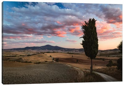 Epic Sunset, Tuscany, Italy Canvas Print #TEO38