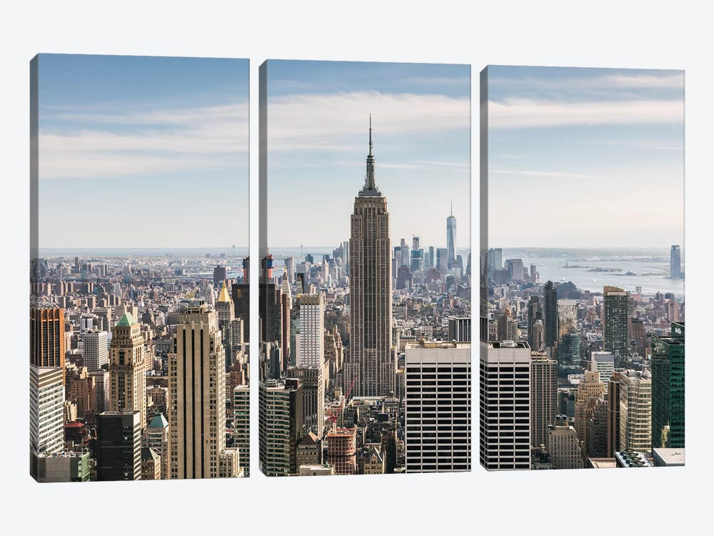 Manhattan Skyline, New York City by Matteo Colombo 3-piece Canvas Art