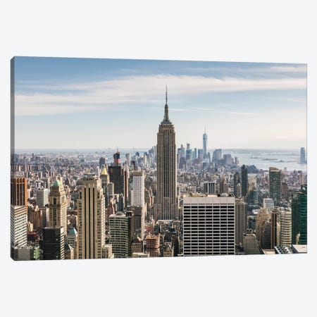 Manhattan Skyline, New York City Canvas Print #TEO391} by Matteo Colombo Canvas Artwork