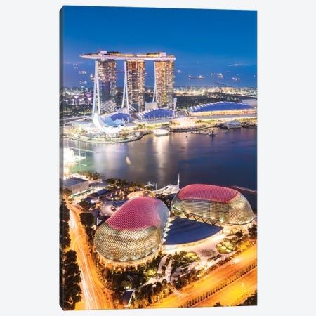 Marina Bay Sands At Dusk, Singapore Canvas Print #TEO392} by Matteo Colombo Canvas Art