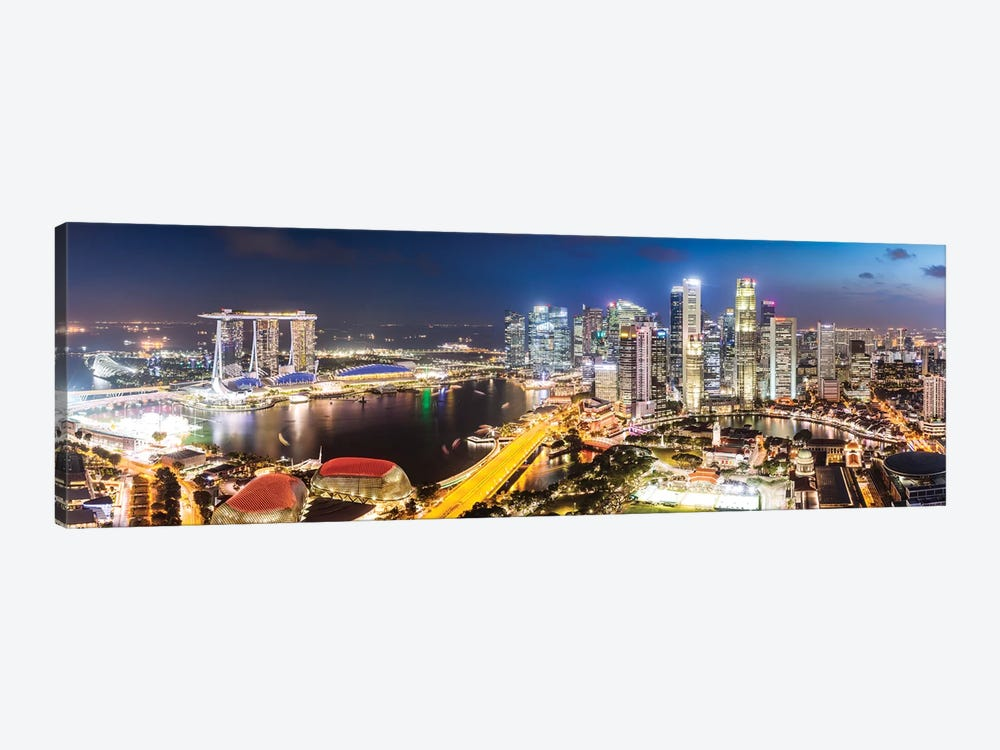 Marina Bay Skyline At Sunset, Singapore by Matteo Colombo 1-piece Canvas Artwork