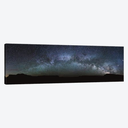 Milky Way Panoramic 3-Piece Canvas #TEO394} by Matteo Colombo Canvas Print