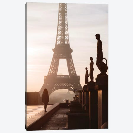 Misty Tour Eiffel, Paris Canvas Print #TEO396} by Matteo Colombo Canvas Print