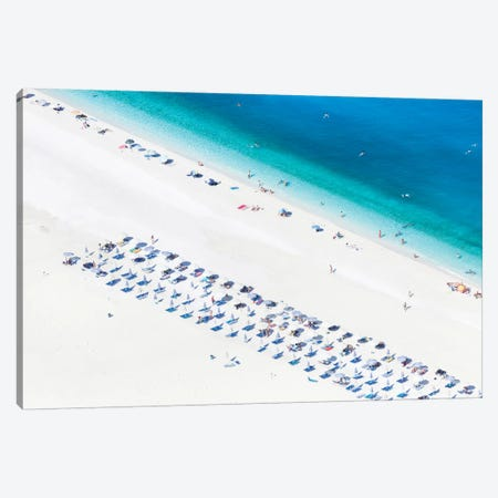 Aerial View Of Myrtos Beach I, Cephalonia, Ionian Islands, Greece Canvas Print #TEO3} by Matteo Colombo Art Print