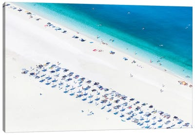 Aerial View Of Myrtos Beach I, Cephalonia, Ionian Islands, Greece Canvas Art Print