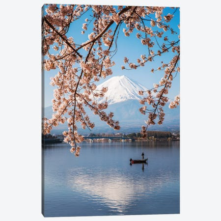 Mount Fuji And Cherry Trees, Japan II Canvas Print #TEO400} by Matteo Colombo Canvas Wall Art