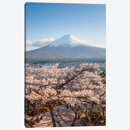 Mount Fuji And Cherry Trees, Japan III Canvas Print #TEO401} by Matteo Colombo Canvas Wall Art