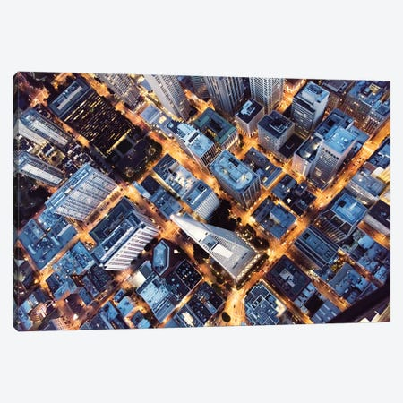 Over Transamerica Tower, San Francisco Canvas Print #TEO405} by Matteo Colombo Canvas Print