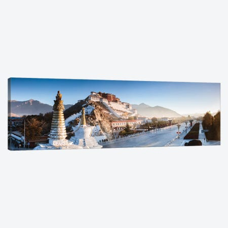 Panoramic Of Potala Palace, Tibet Canvas Print #TEO409} by Matteo Colombo Canvas Art
