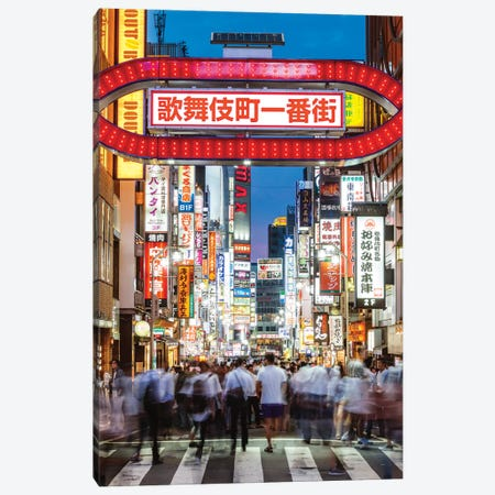 Red Light District, Shinjuku, Tokyo III Canvas Print #TEO414} by Matteo Colombo Canvas Artwork