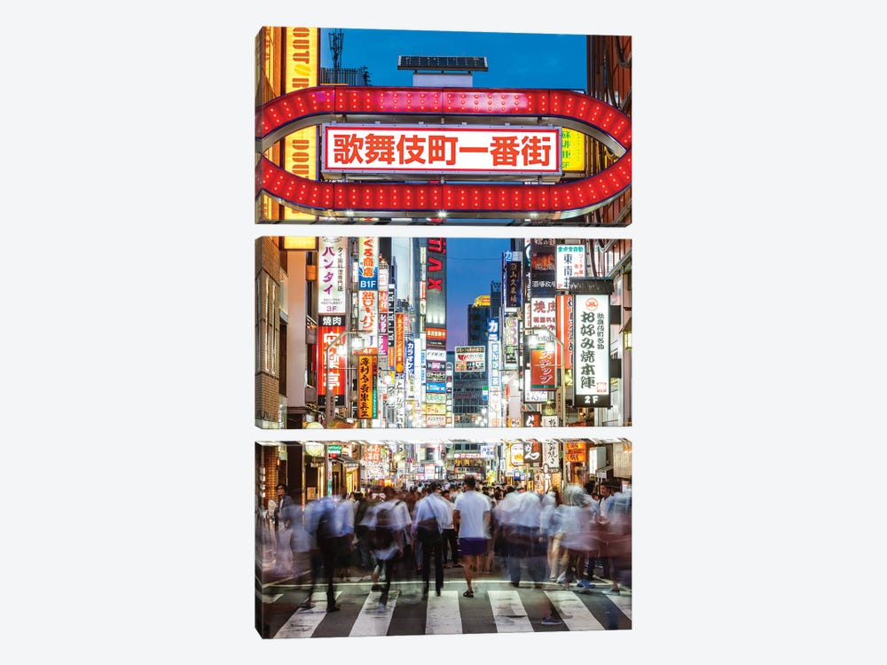 Red Light District, Shinjuku, Tokyo III 3-piece Canvas Artwork