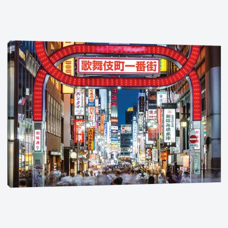 Red Light District, Shinjuku, Tokyo IV Canvas Print #TEO415} by Matteo Colombo Canvas Artwork