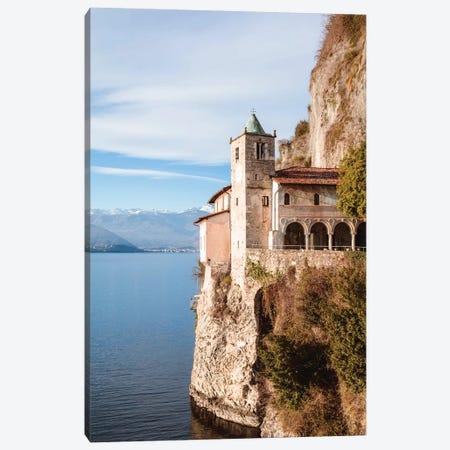 Santa Caterina Del Sasso Hermitage, Italy Canvas Print #TEO418} by Matteo Colombo Art Print