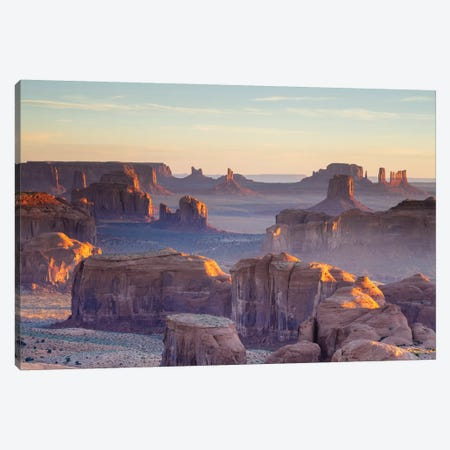 First Light, Monument Valley, Navajo Nation, Arizona, USA Canvas Print #TEO41} by Matteo Colombo Canvas Wall Art