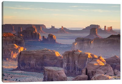 First Light, Monument Valley, Navajo Nation, Arizona, USA Canvas Print #TEO41