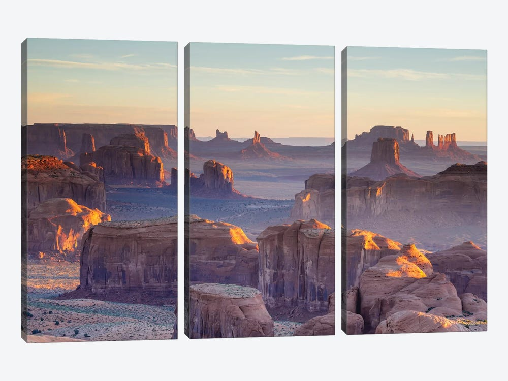 First Light, Monument Valley, Navajo Nation, Arizona, USA by Matteo Colombo 3-piece Canvas Art Print