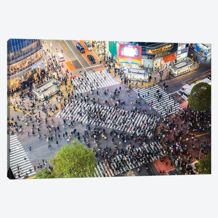 Shibuya Crossing, Tokyo, Japan Canvas Print #TEO420} by Matteo Colombo Canvas Artwork