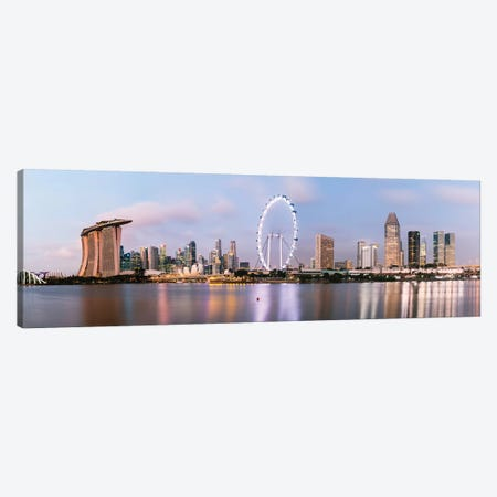 Singapore Skyline I Canvas Print #TEO421} by Matteo Colombo Canvas Wall Art