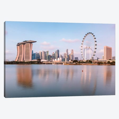 Singapore Skyline II Canvas Print #TEO422} by Matteo Colombo Canvas Artwork