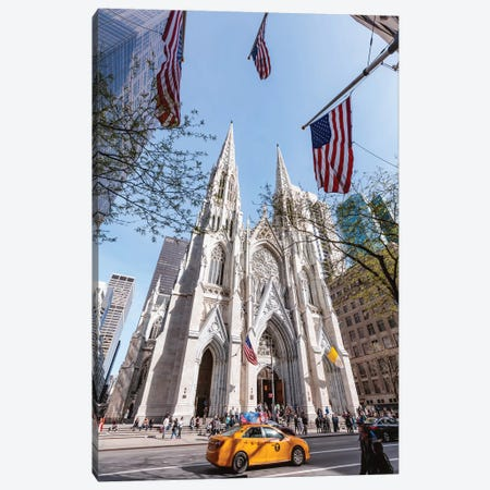 St. Patrick's Cathedral, New York City Canvas Print #TEO424} by Matteo Colombo Art Print