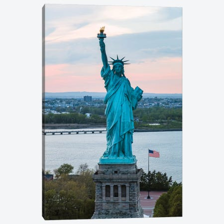 Statue Of Liberty At Sunset, New York Canvas Print #TEO425} by Matteo Colombo Canvas Print