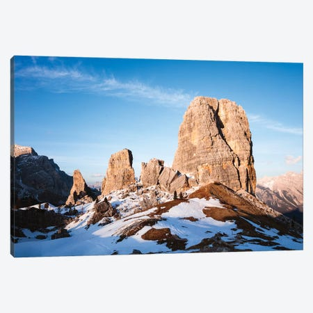 Sunset Over Alpine Peaks, Italy Canvas Print #TEO426} by Matteo Colombo Canvas Print