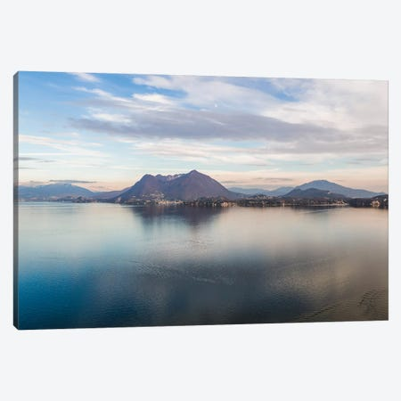 Sunset Over Lake Maggiore, Italy Canvas Print #TEO428} by Matteo Colombo Canvas Wall Art