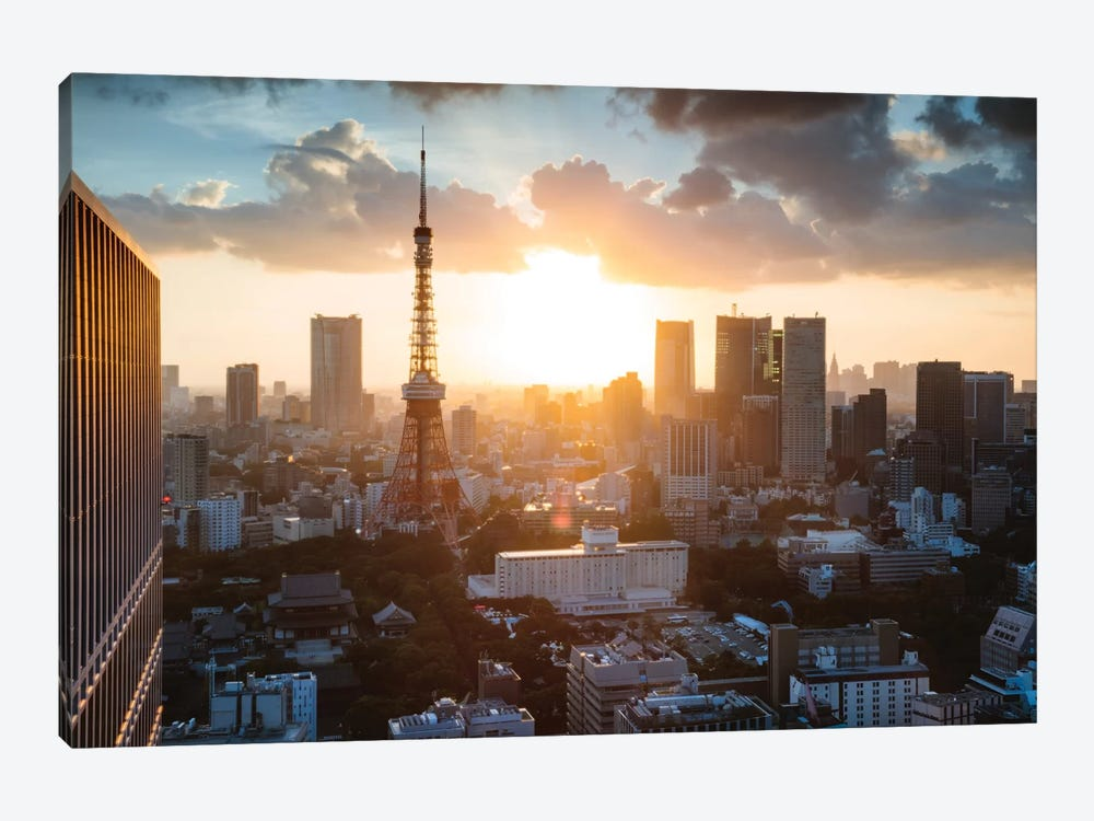 Sunset Over Tokyo, Japan by Matteo Colombo 1-piece Canvas Artwork