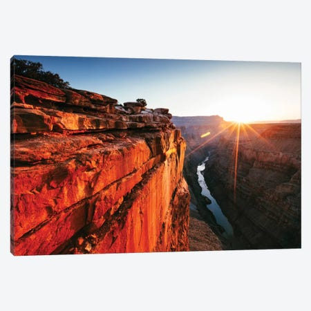 First Light, Toroweap Point, North Rim, Grand Canyon National Park, Arizona, USA Canvas Print #TEO42} by Matteo Colombo Canvas Wall Art
