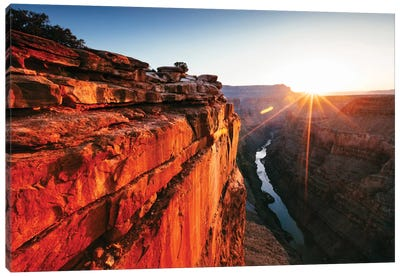 First Light, Toroweap Point, North Rim, Grand Canyon National Park, Arizona, USA Canvas Art Print