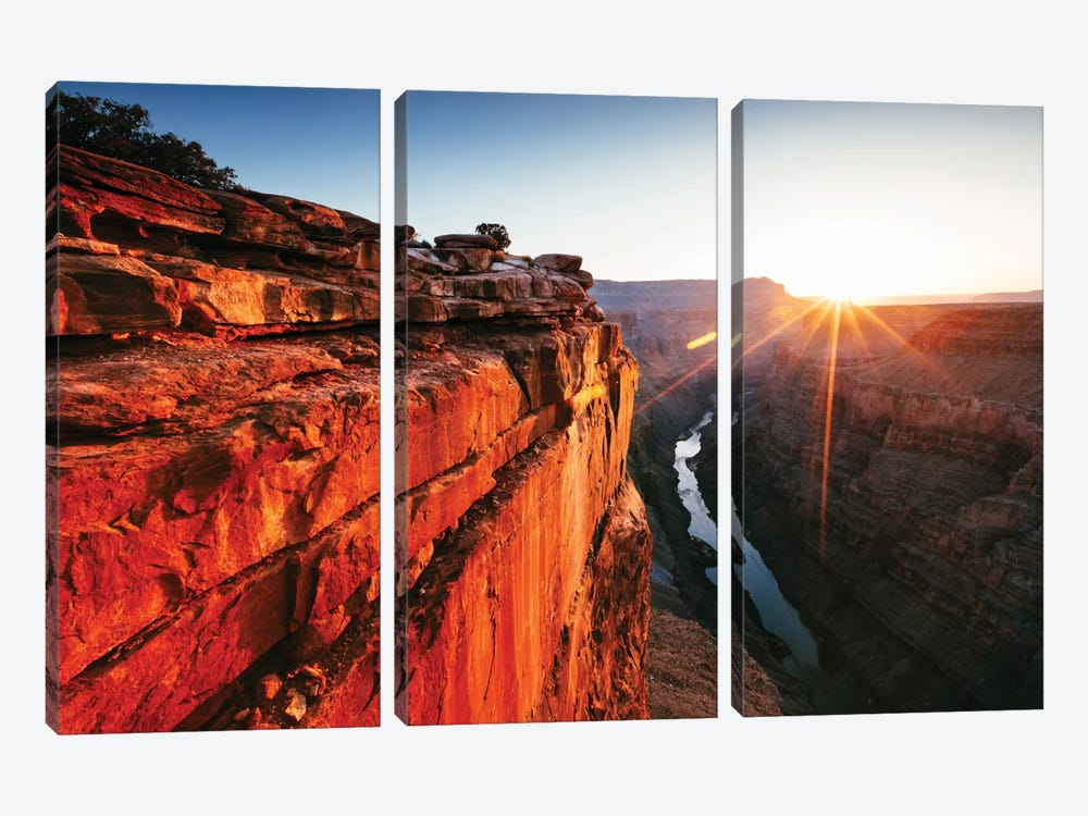 First Light, Toroweap Point, North Rim, Grand Canyon National Park, Arizona, USA by Matteo Colombo 3-piece Canvas Wall Art