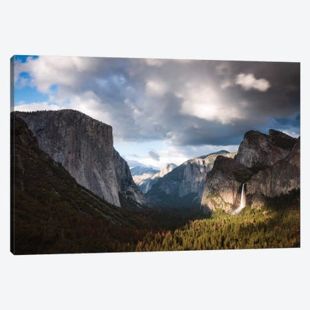 Sunset Over Yosemite 3-Piece Canvas #TEO430} by Matteo Colombo Canvas Print