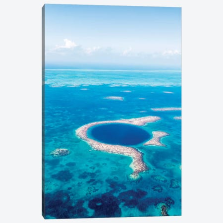 The Great Blue Hole, Belize III Canvas Print #TEO436} by Matteo Colombo Canvas Artwork