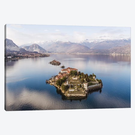 The Islands On Lake Maggiore, Italy Canvas Print #TEO437} by Matteo Colombo Canvas Wall Art