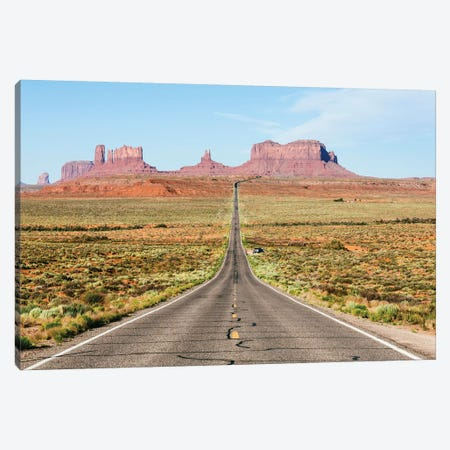 To The Monument Valley, Arizona Canvas Print #TEO438} by Matteo Colombo Canvas Print