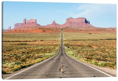 To The Monument Valley, Arizona Canvas Art Print